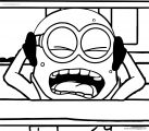 Minions Crying Coloring Page