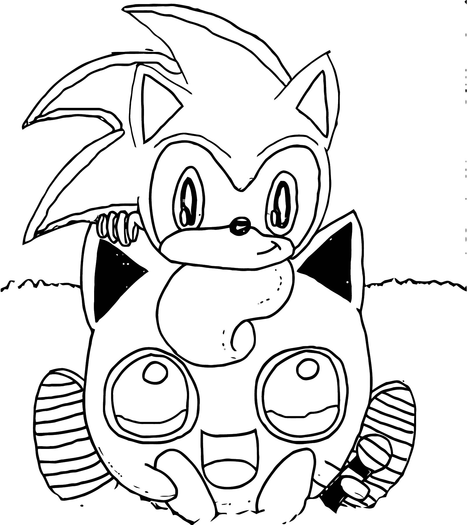 Sonic And Jigglypuff Coloring Page
