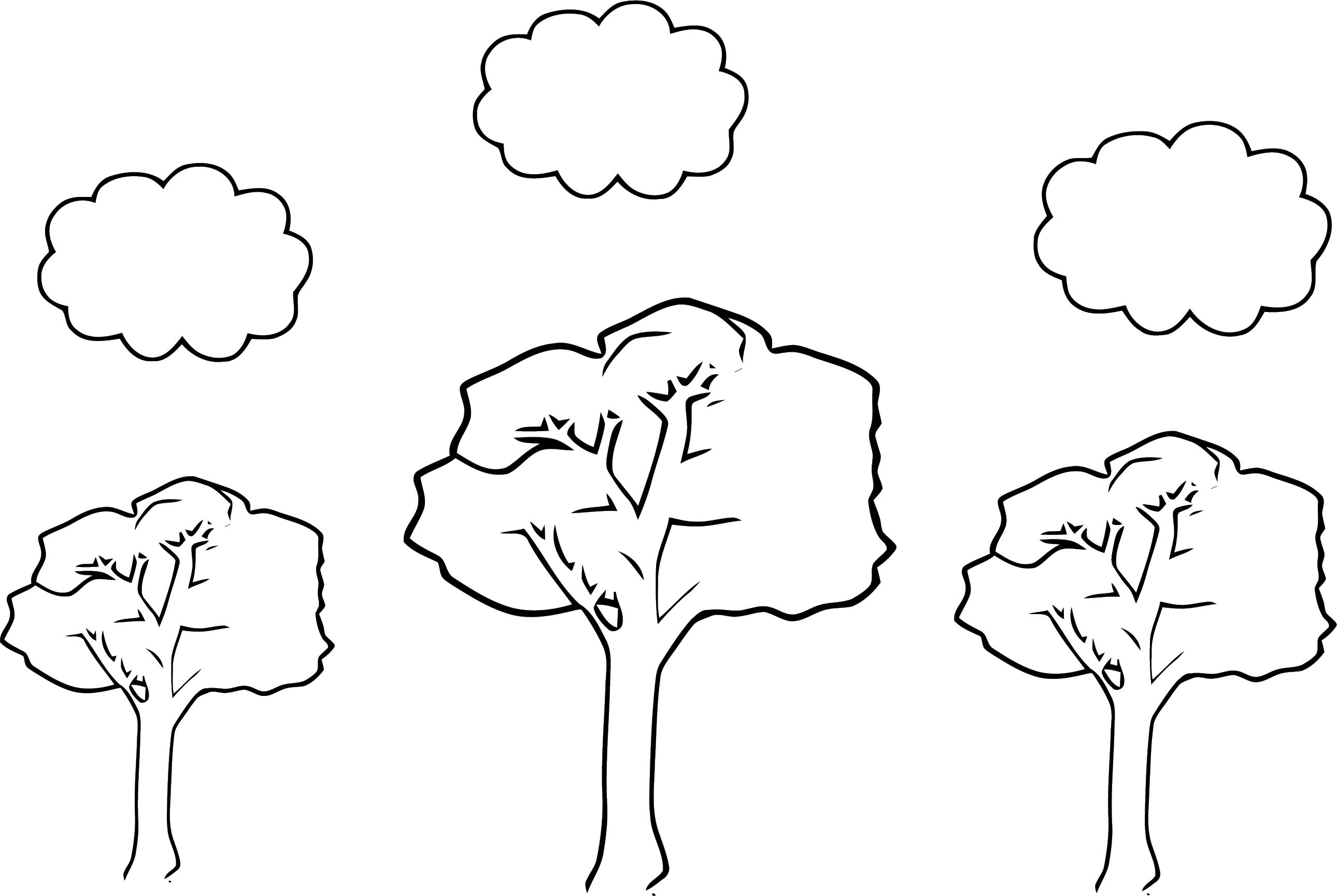 Spring Landscape Coloring Page