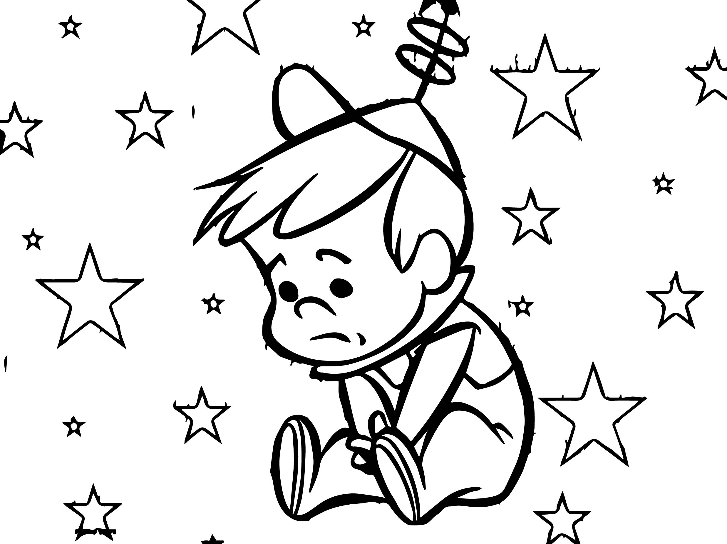 Star Elroy Jetson Sad Coloring Page