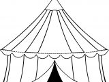 Tente Open Circus Coloring Page