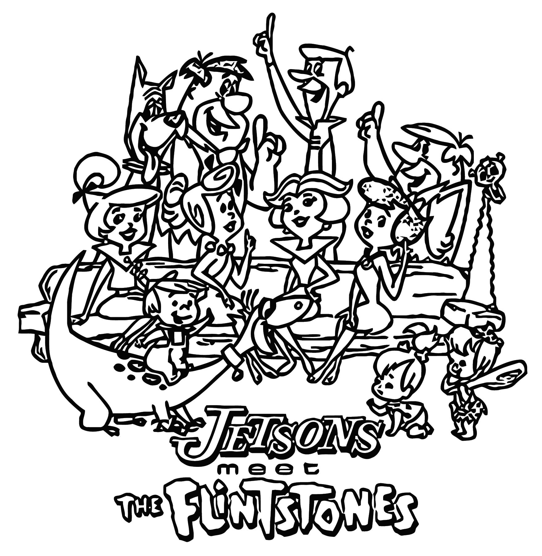 The Jetsons Meet The Flintstones Coloring Page