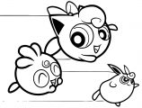 The Jigglypuff Powerpuff Style Coloring Page