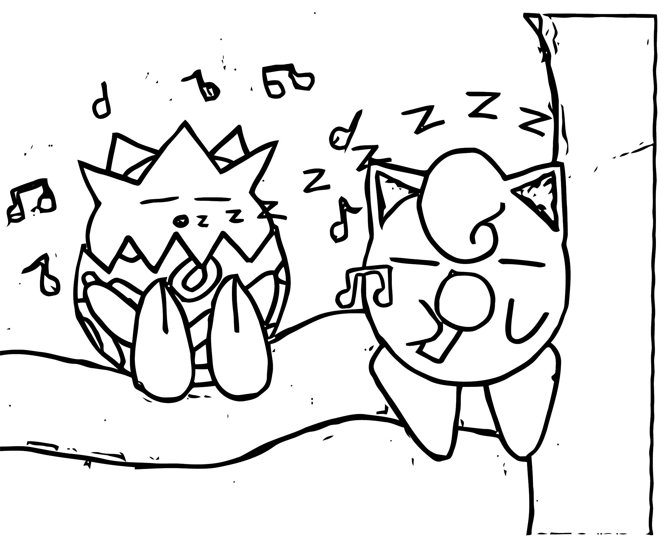 Togepi And Jigglypuff Coloring Page
