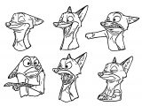 Zootopia Character Designs Disneys Zootopia Coloring Page