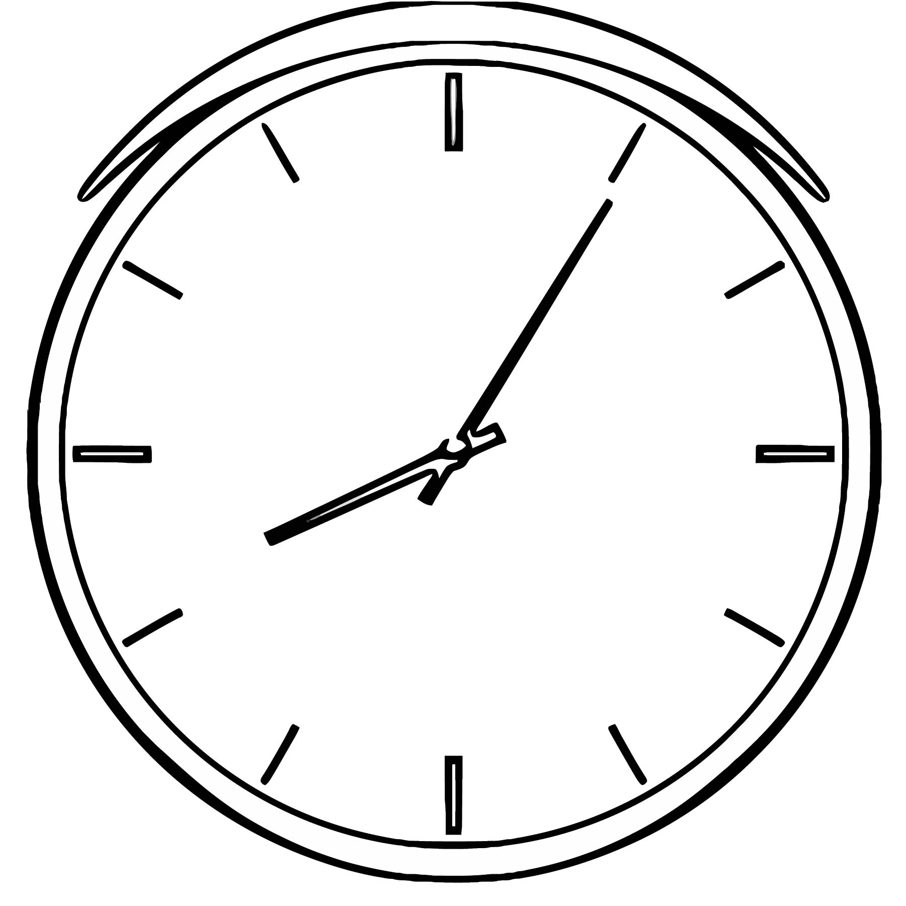 16762 Illustration Of A Clock Free Printable Pv Cartoonized Free Printable Coloring Page
