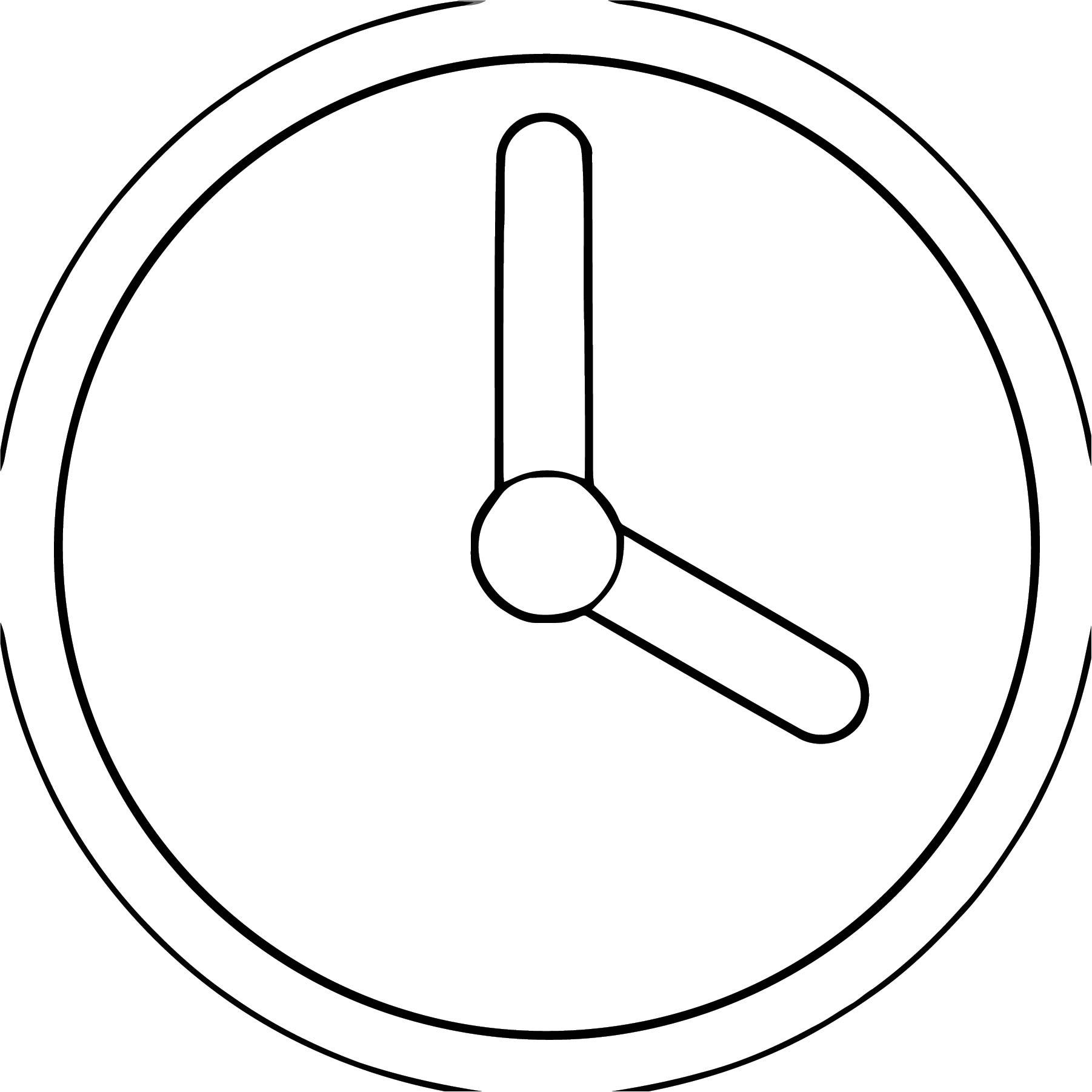1843 Clock Desi Free Printable Gn Cartoonized Free Printable Coloring Page