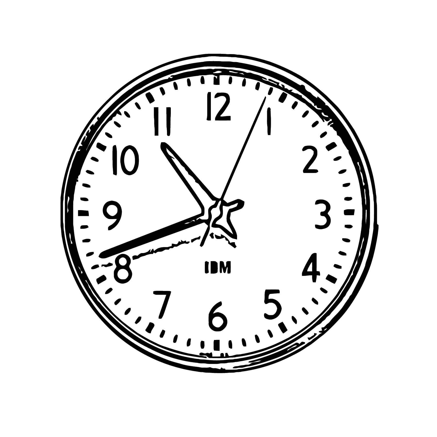 1960s Ibm 13 5 Inch Standard Issue Clock 1 900x900 Free Printable Px Cartoonized Free Printable Coloring Page