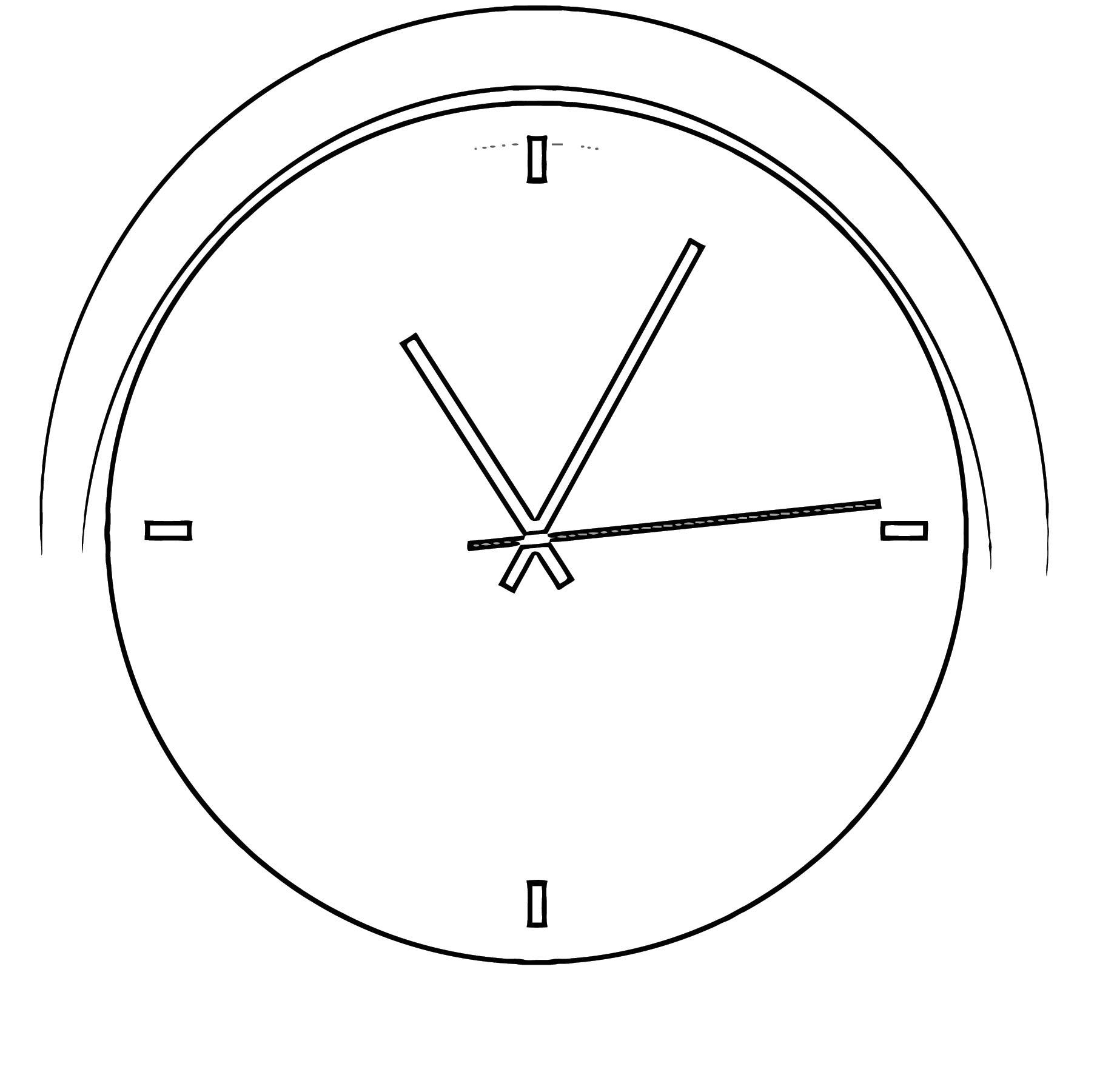 2000px Modern Clock Chris Kemps 01 S Free Printable Vg Cartoonized Free Printable Coloring Page