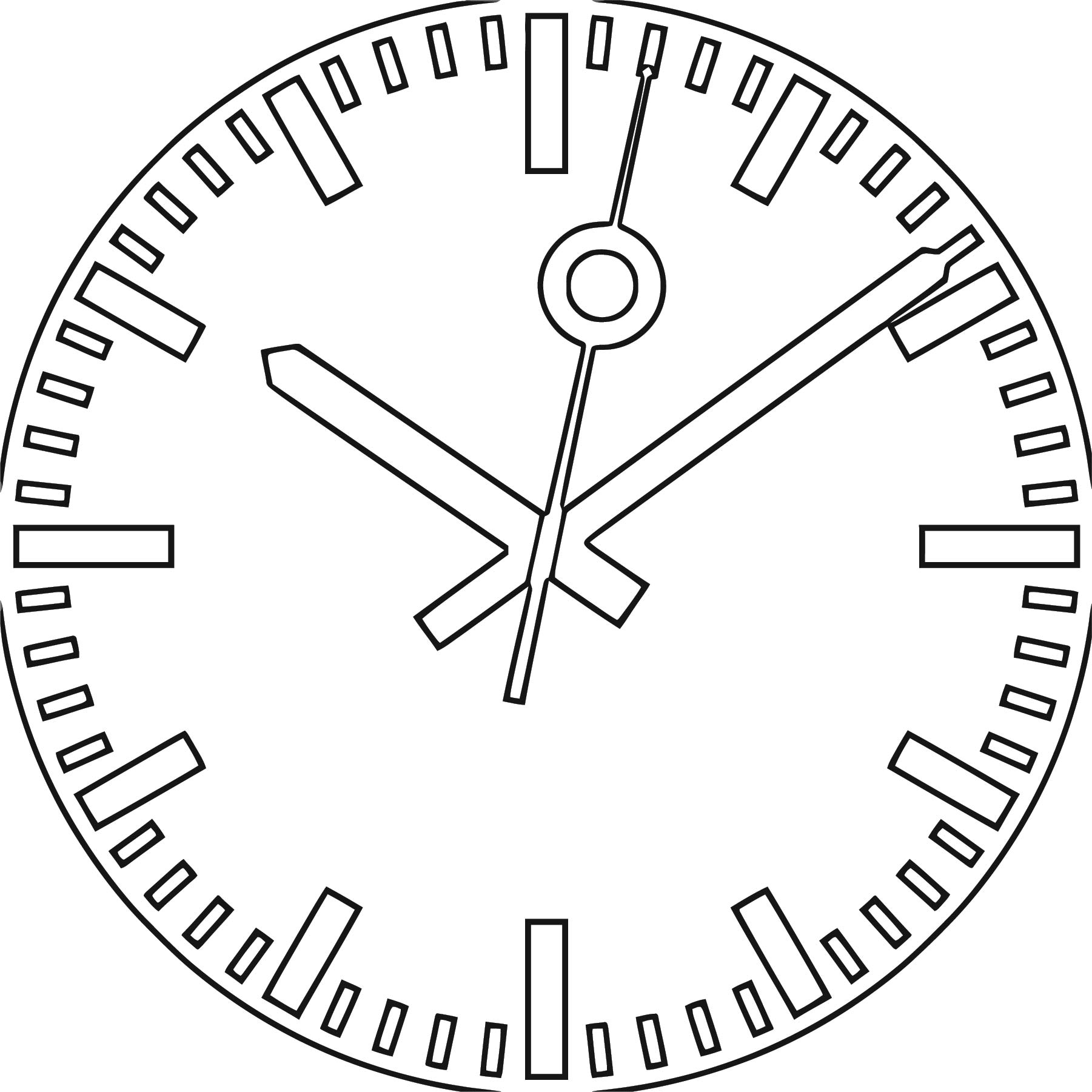 2000px Swiss Railway Clock S Free Printable Vg Cartoonized Free Printable Coloring Page