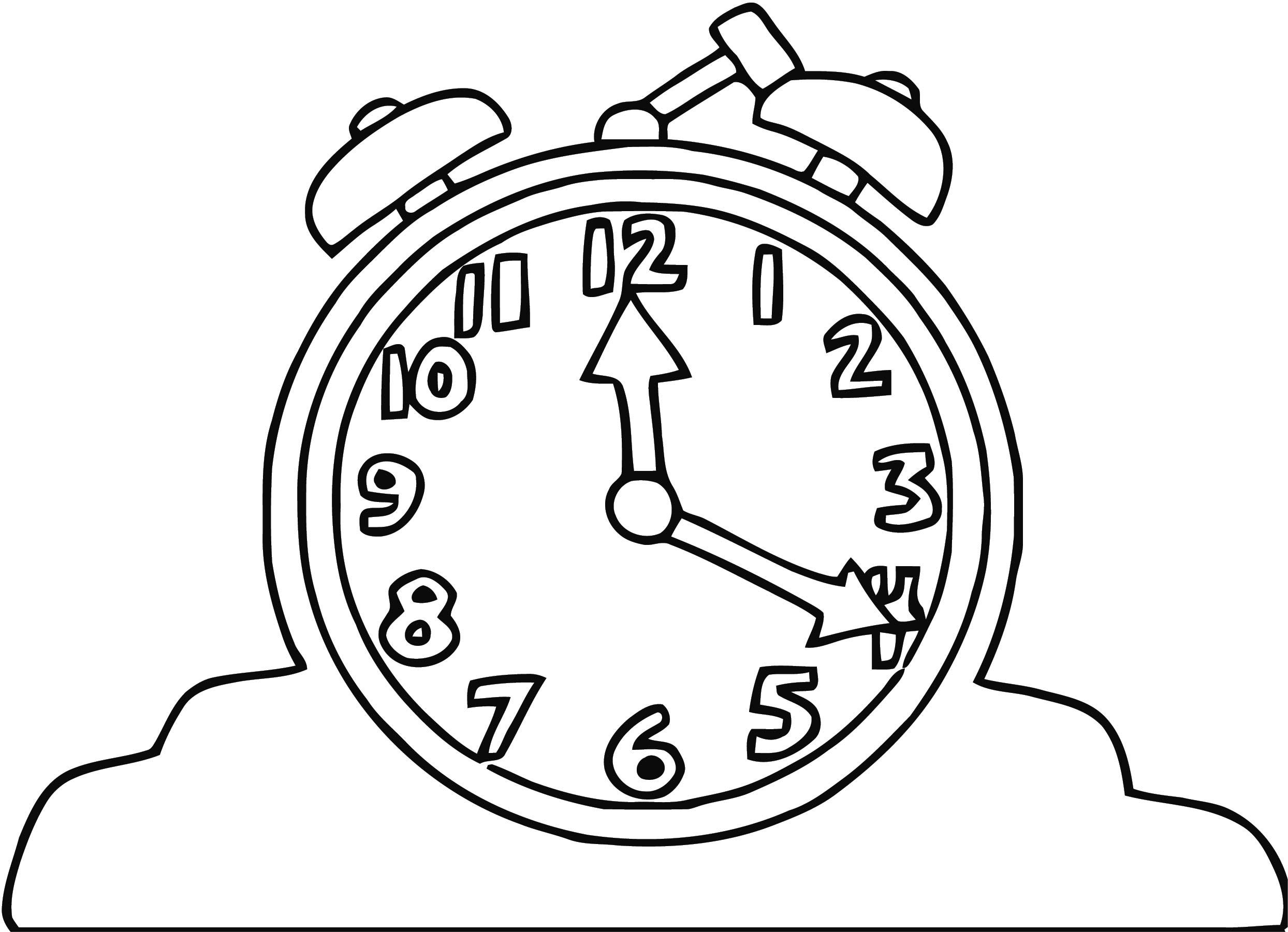 Alarm Clock Clip Art 796 Free Printable 05 Cartoonized Free Printable Coloring Page