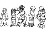 All The Club Penguin Humans Coloring Page