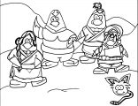 Avatar Club Penguin Style Coloring Page
