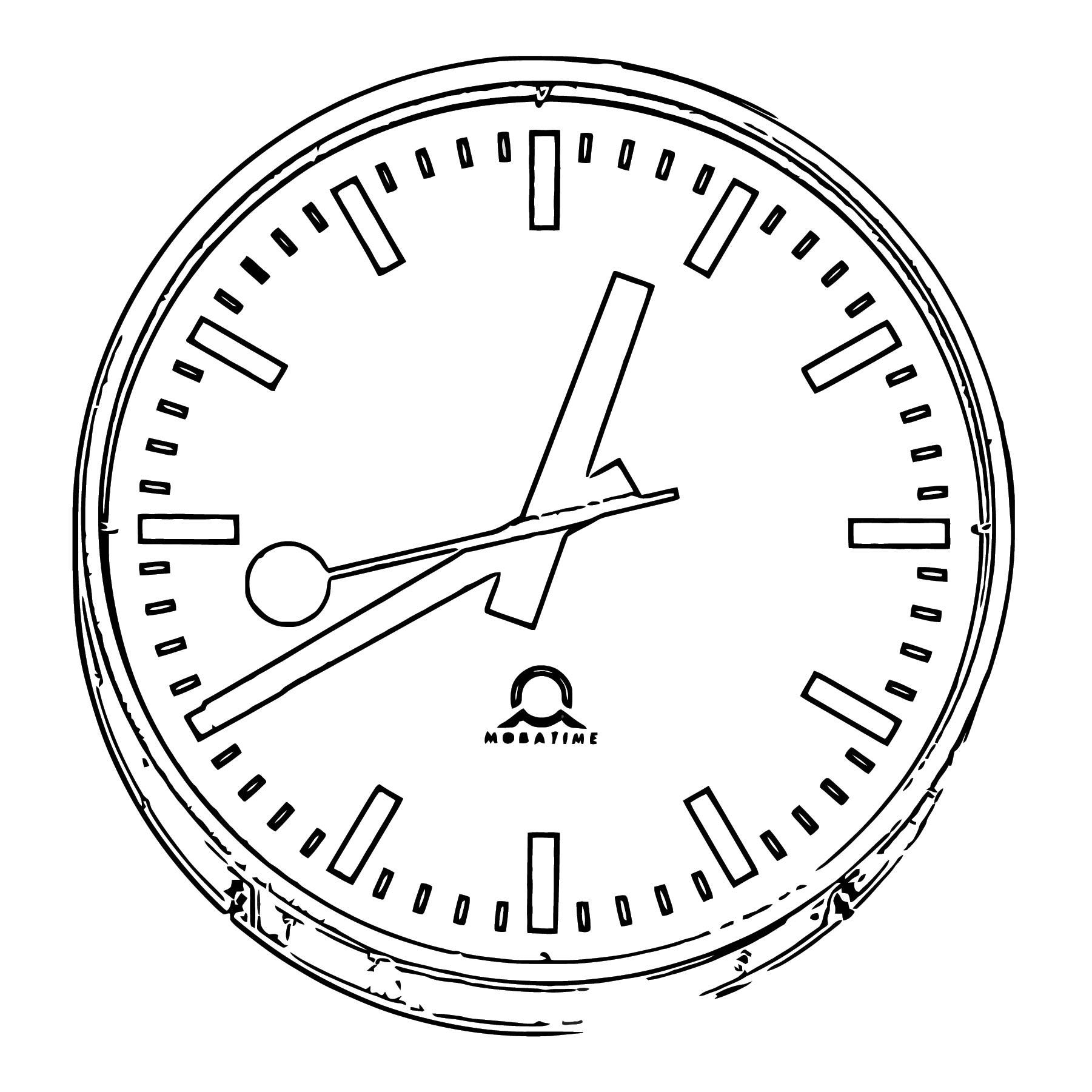 Bahnhofsuhrzuerich Free Printable Rz Cartoonized Free Printable Coloring Page