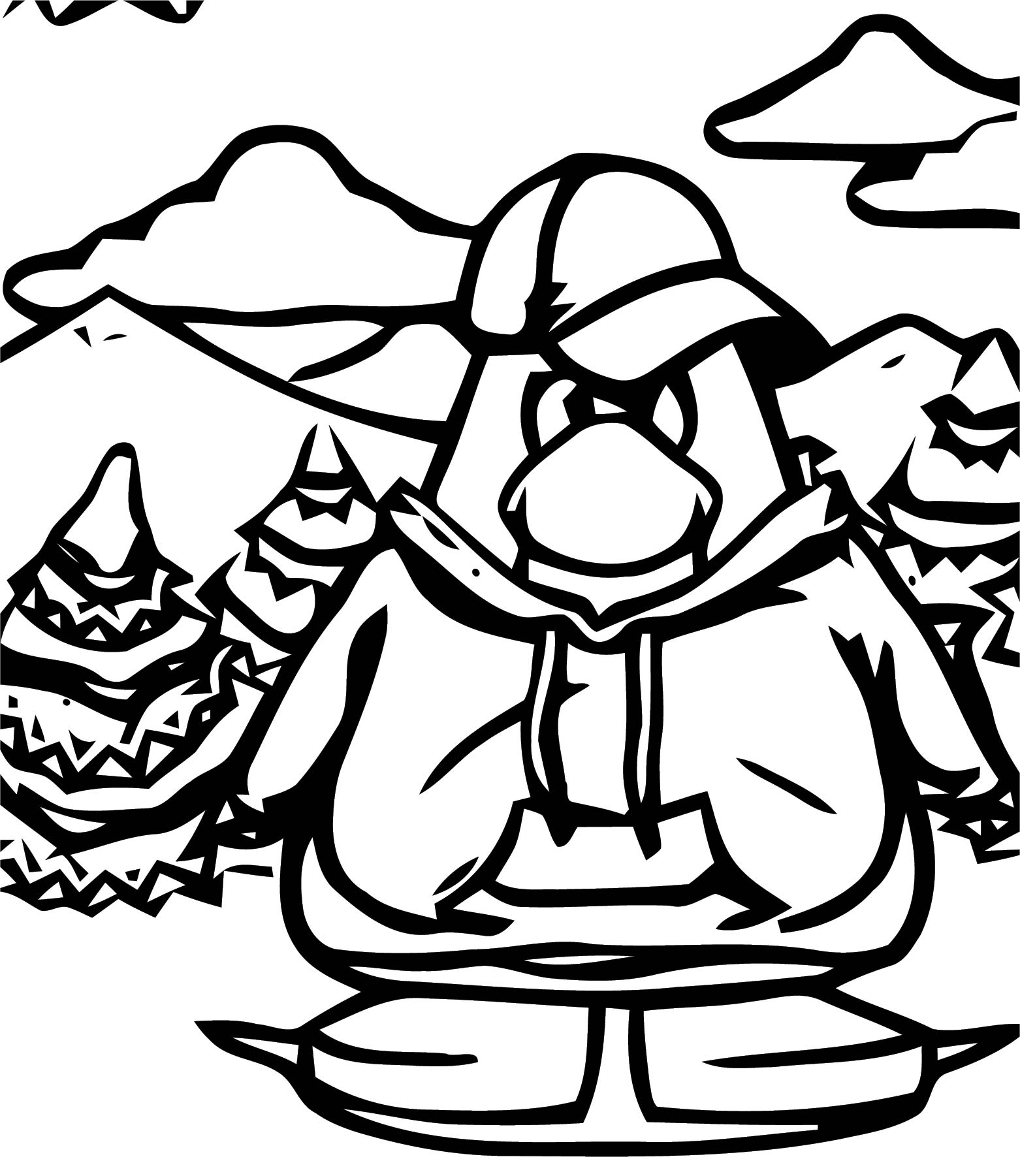 Be A Good Boyfriend On Club Penguin Coloring Page