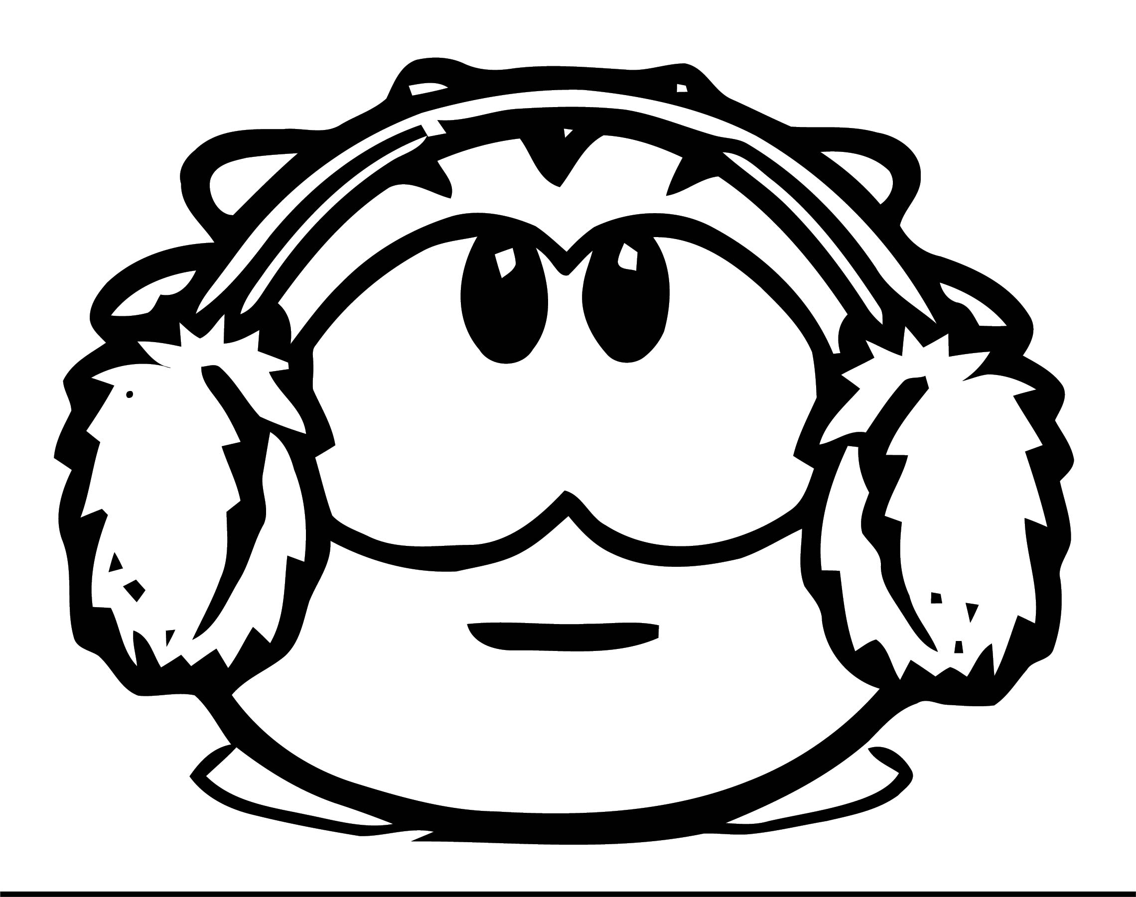 puffle coloring pages | Be A Puffle On Club Penguin Coloring Page | Wecoloringpage.com