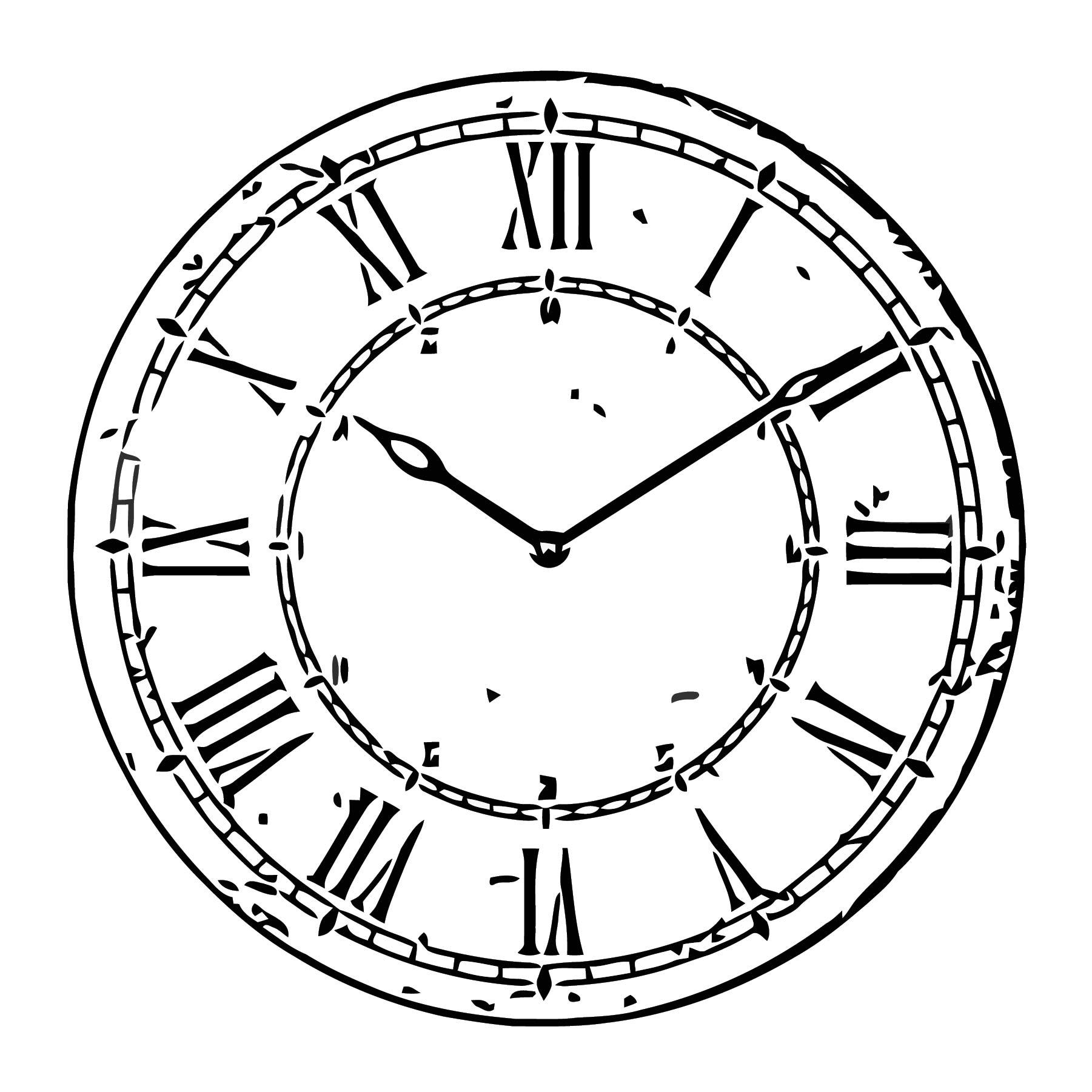 Bitnik Wall Clock White 0406311 Pe569289 Free Printable S4 Cartoonized Free Printable Coloring Page