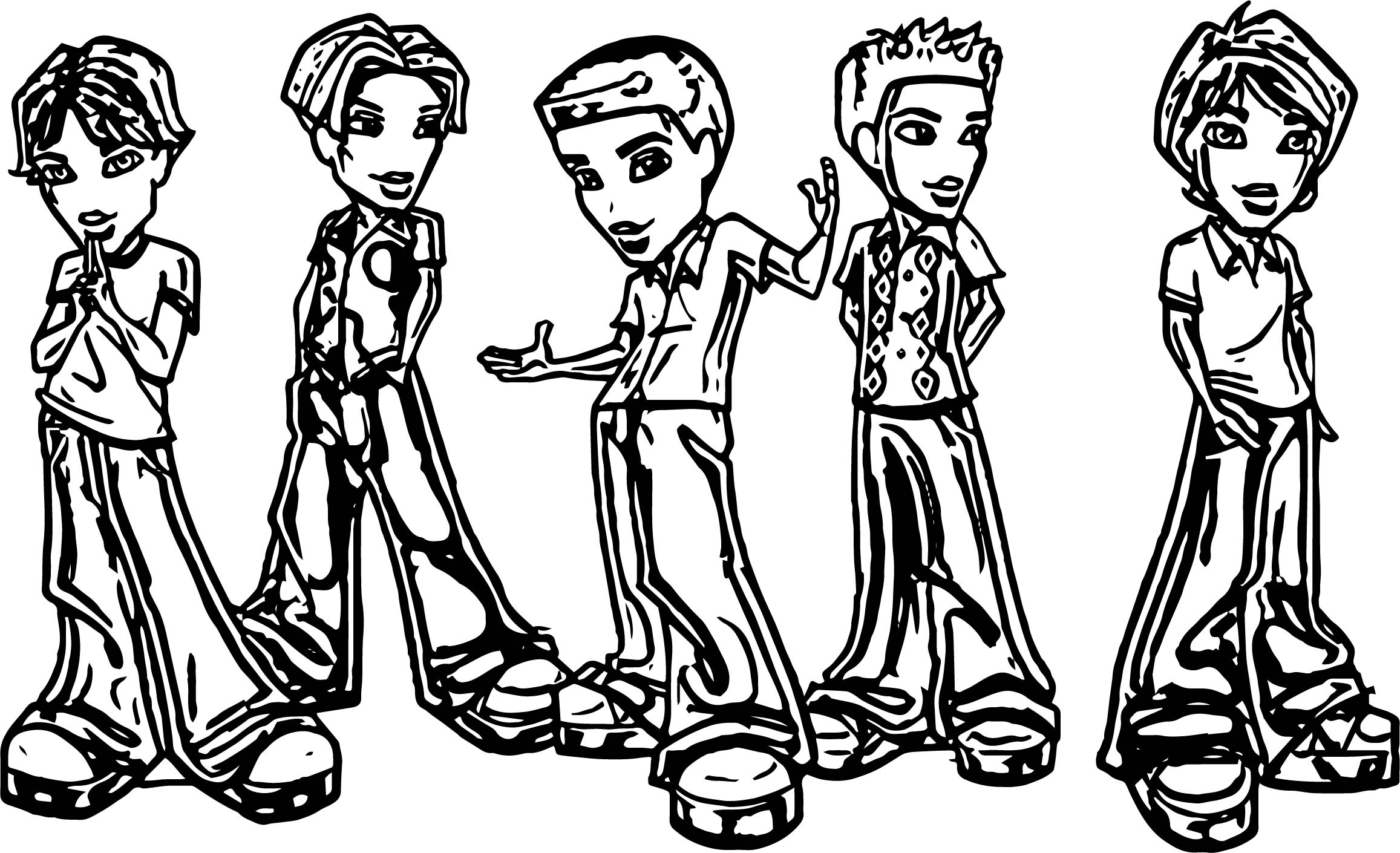 Bratz Boys Coloring Page