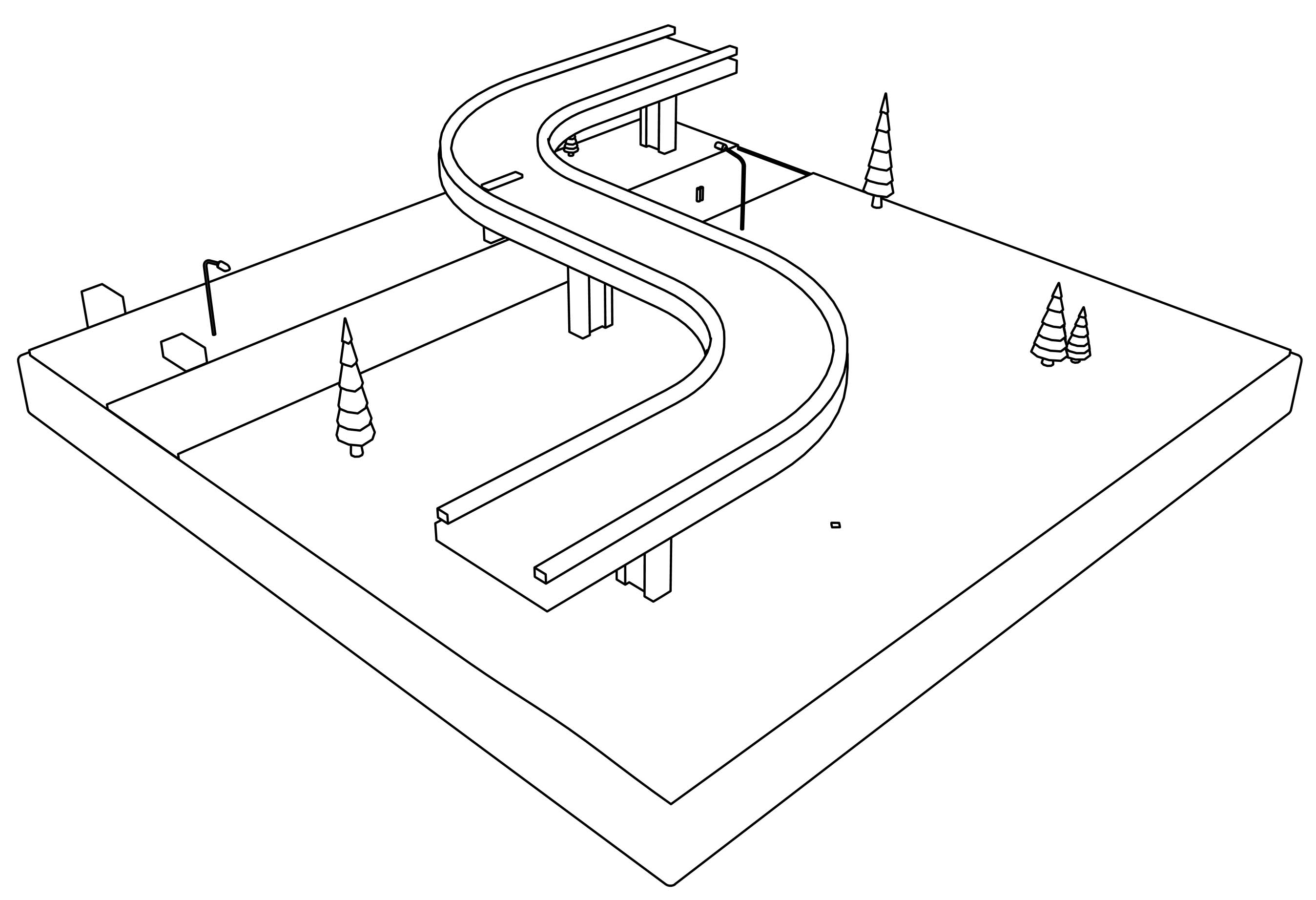 Bridge (Freeway) Coloring Page