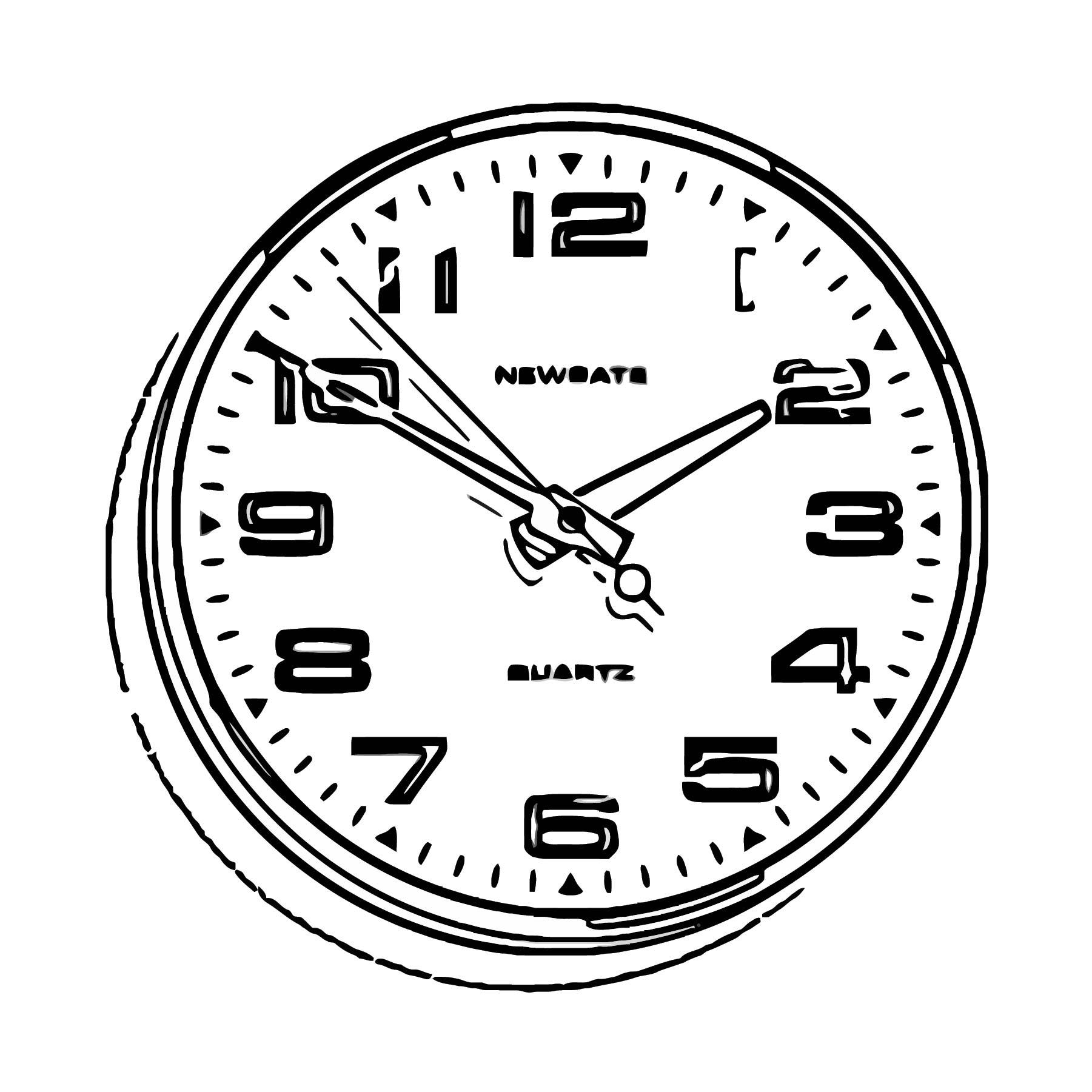 Brixton Clock Bla Free Printable Ck Cartoonized Free Printable Coloring Page