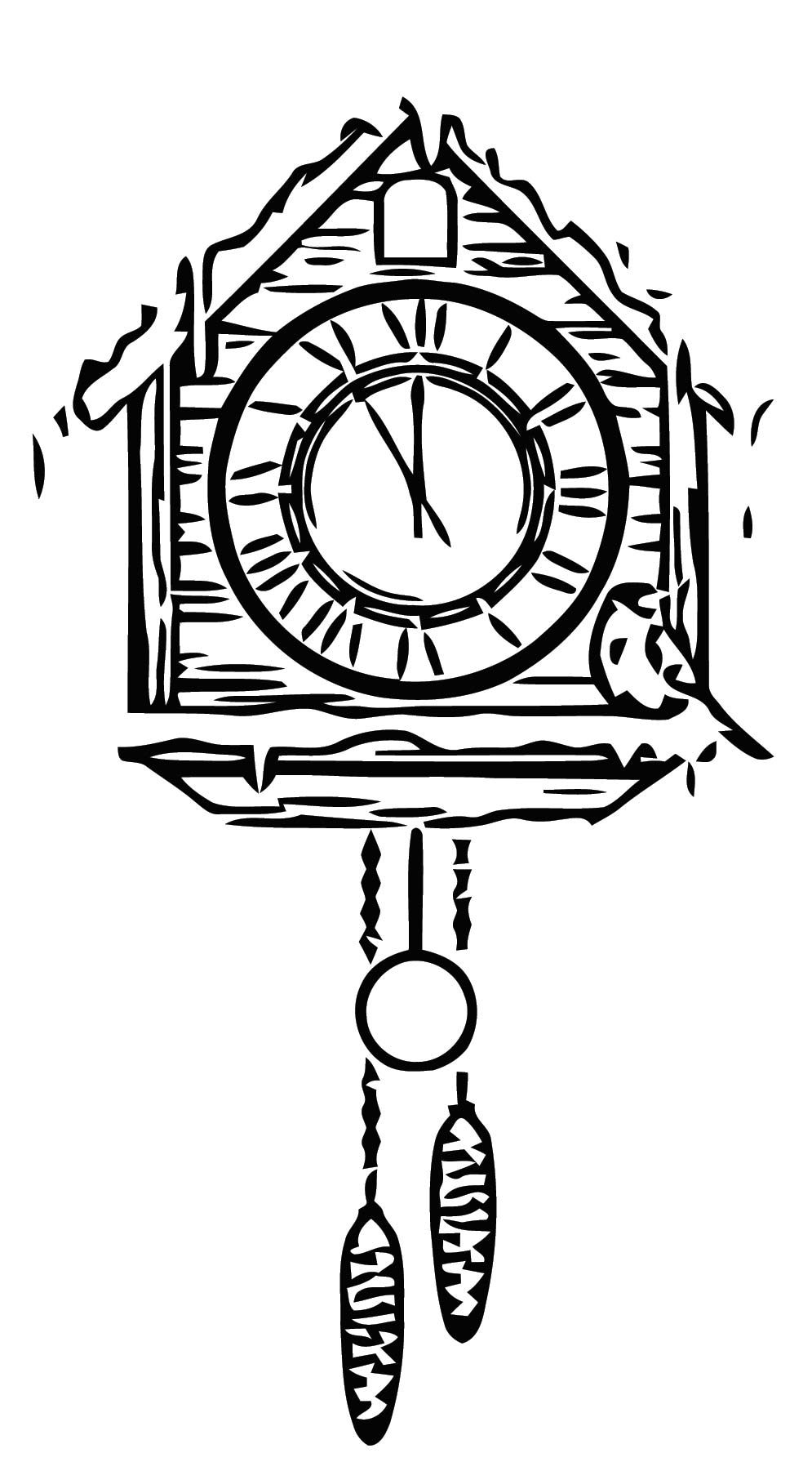 Clock Free Printable 48 Cartoonized Free Printable Coloring Page