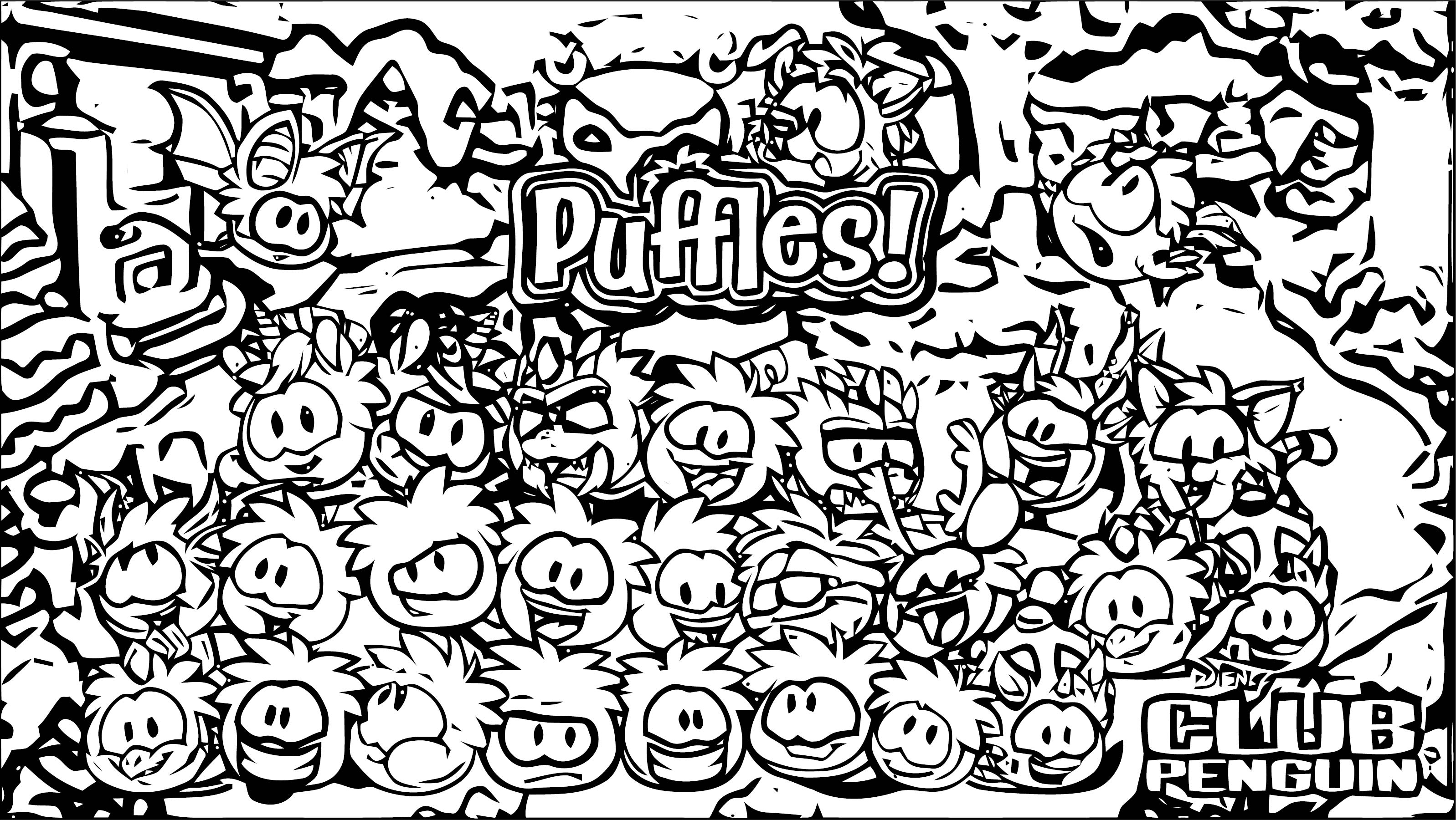 CP2014 Pufflesv2 Coloring Page