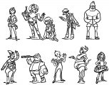 Character Design Vol I Cartoon Coloring Page