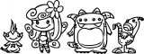 Character Designs Girl Monster Cartoon Coloring Page