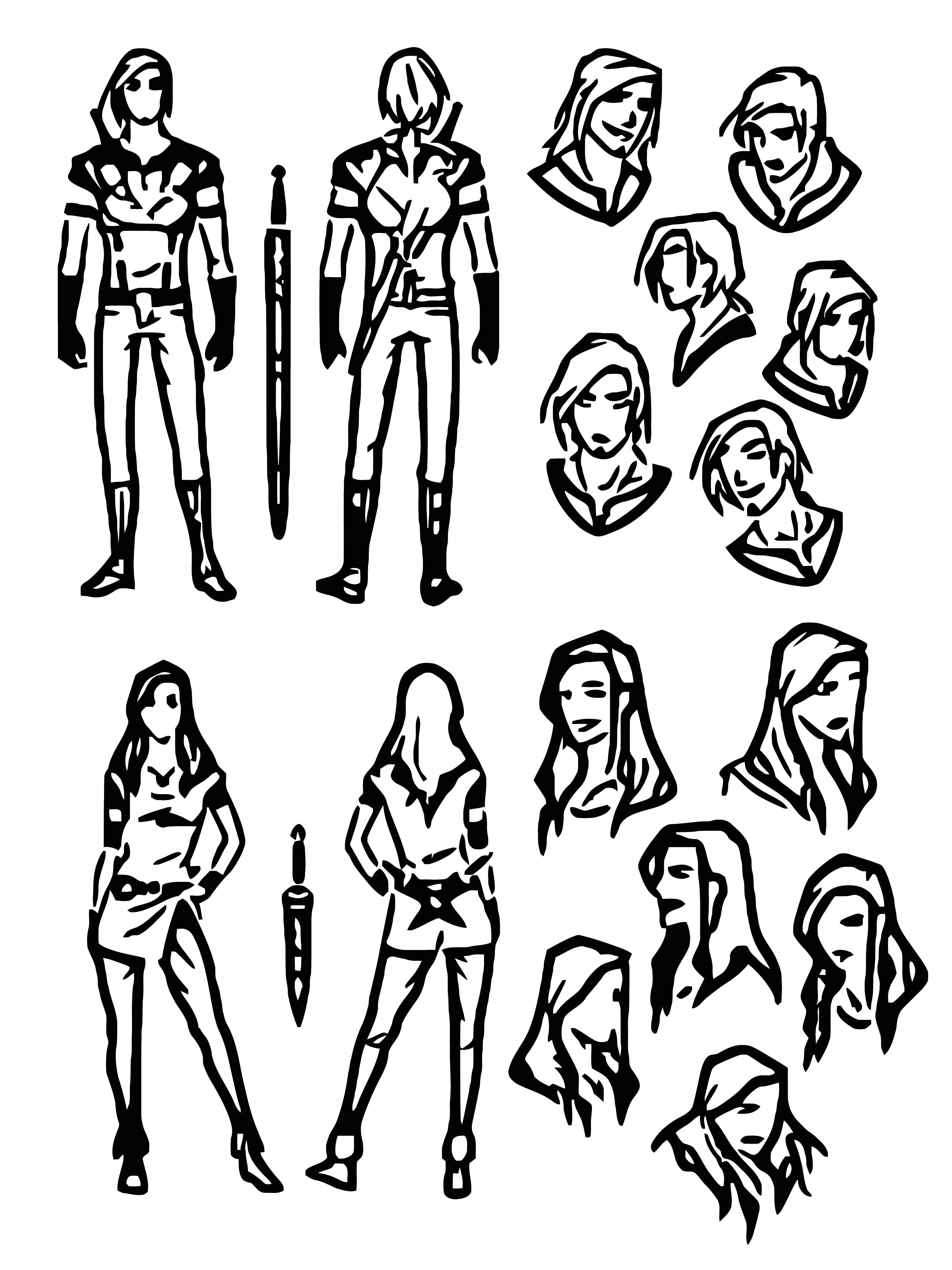 Character Designs Zanariya Cartoon Coloring Page