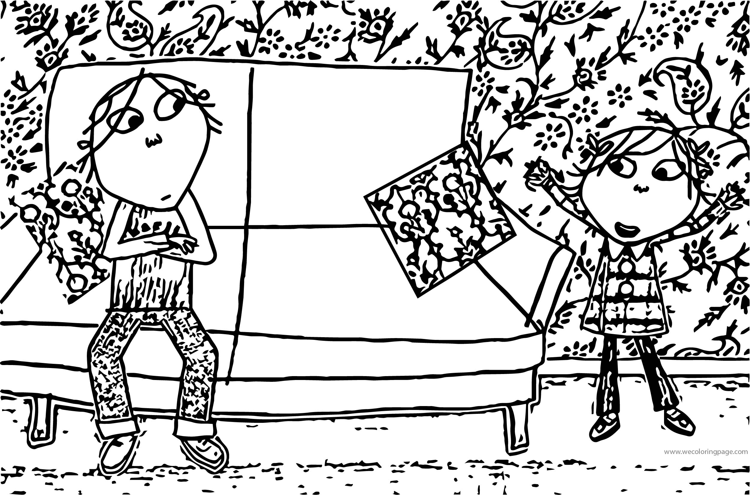 Charlie And Lola Room Coloring Page
