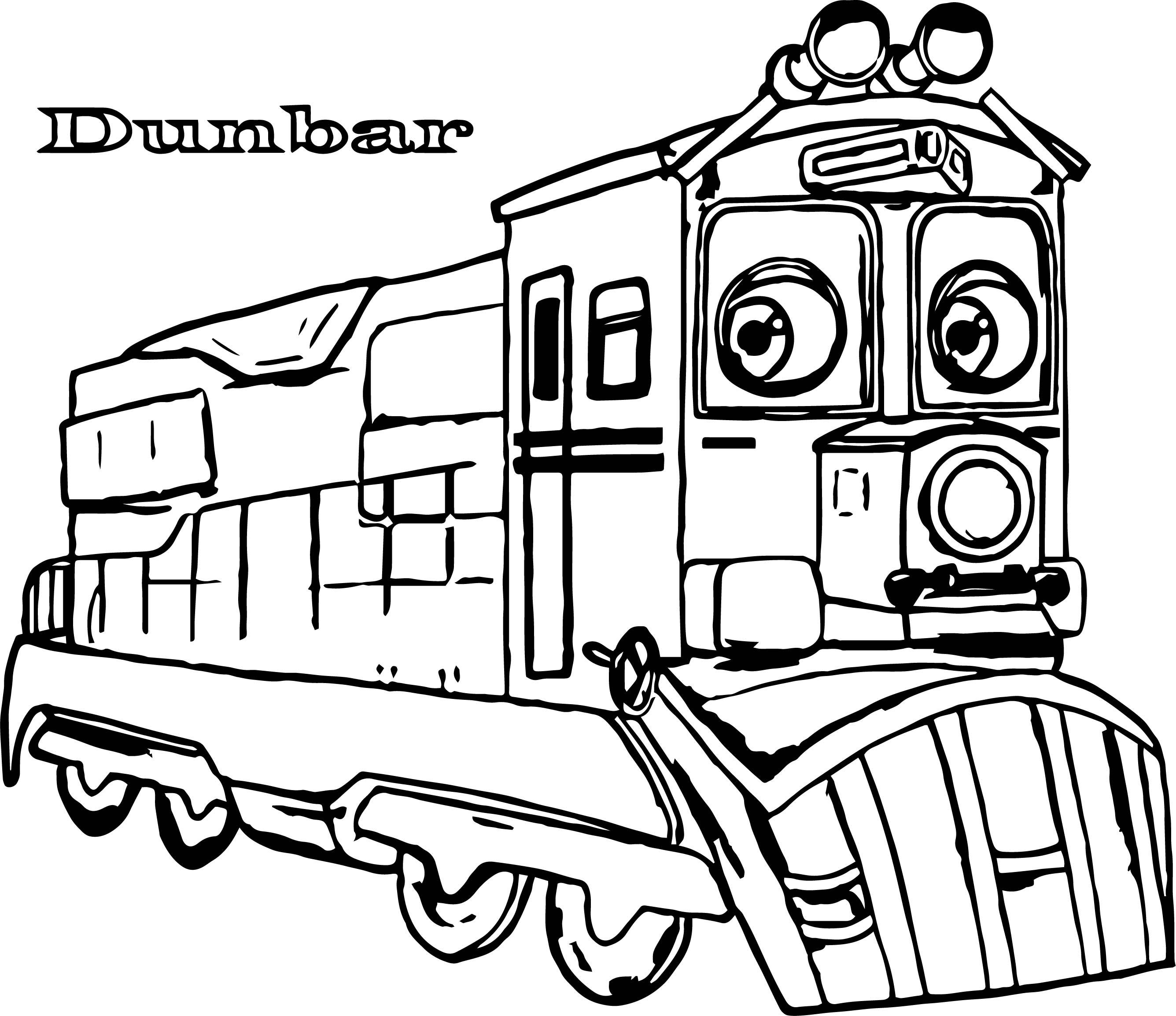 Chuggington Dunbar Coloring Page