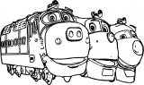 Chuggington Group Coloring Page
