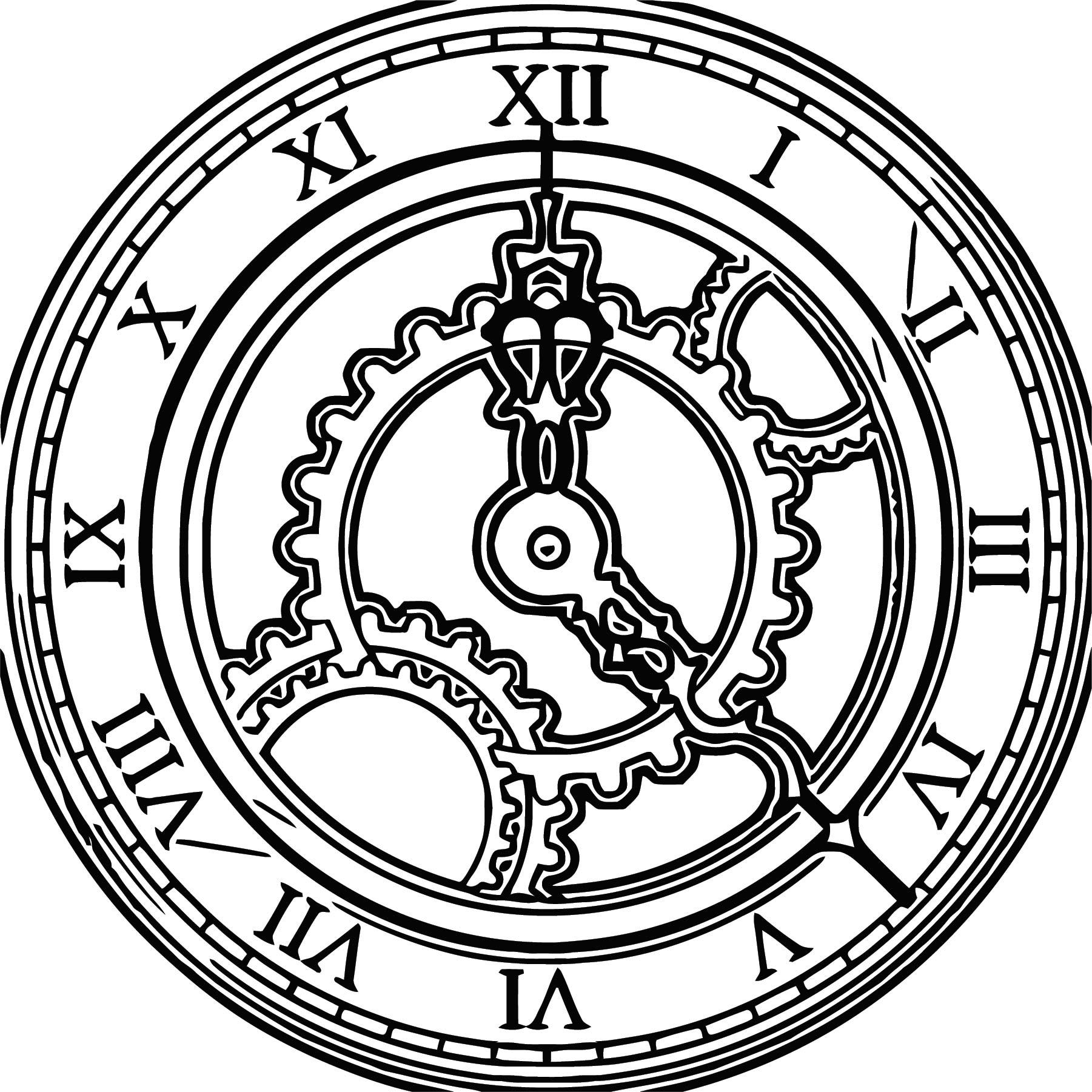 Clock 150754 6 Free Printable 40 Cartoonized Free Printable Coloring Page
