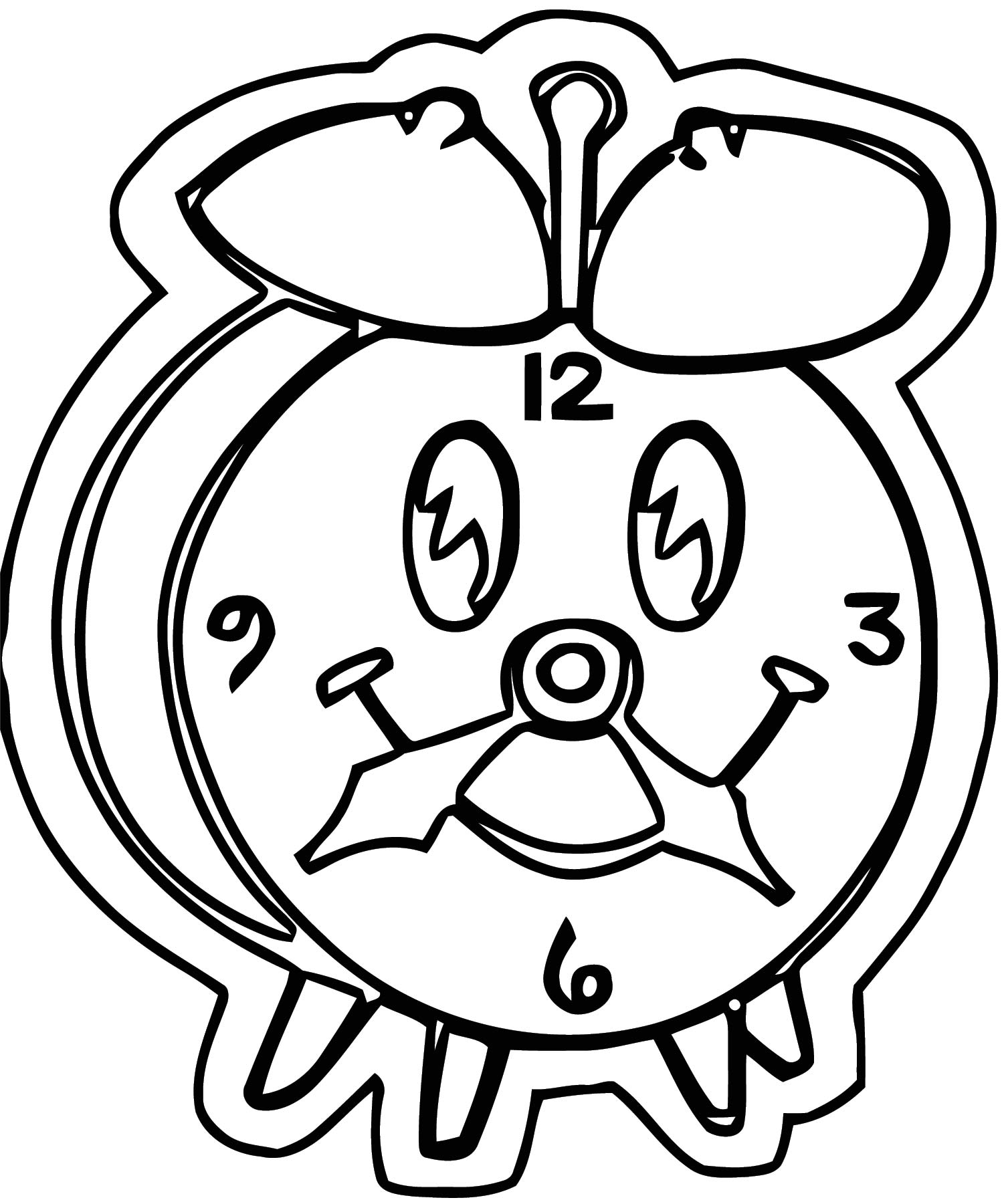 Clock Clip Art Abcyjxz Free Printable Tl Cartoonized Free Printable Coloring Page