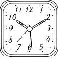 Clock Clip Art Clock Alarm Clip Art 224 Free Printable 96 Cartoonized Free Printable Coloring Page