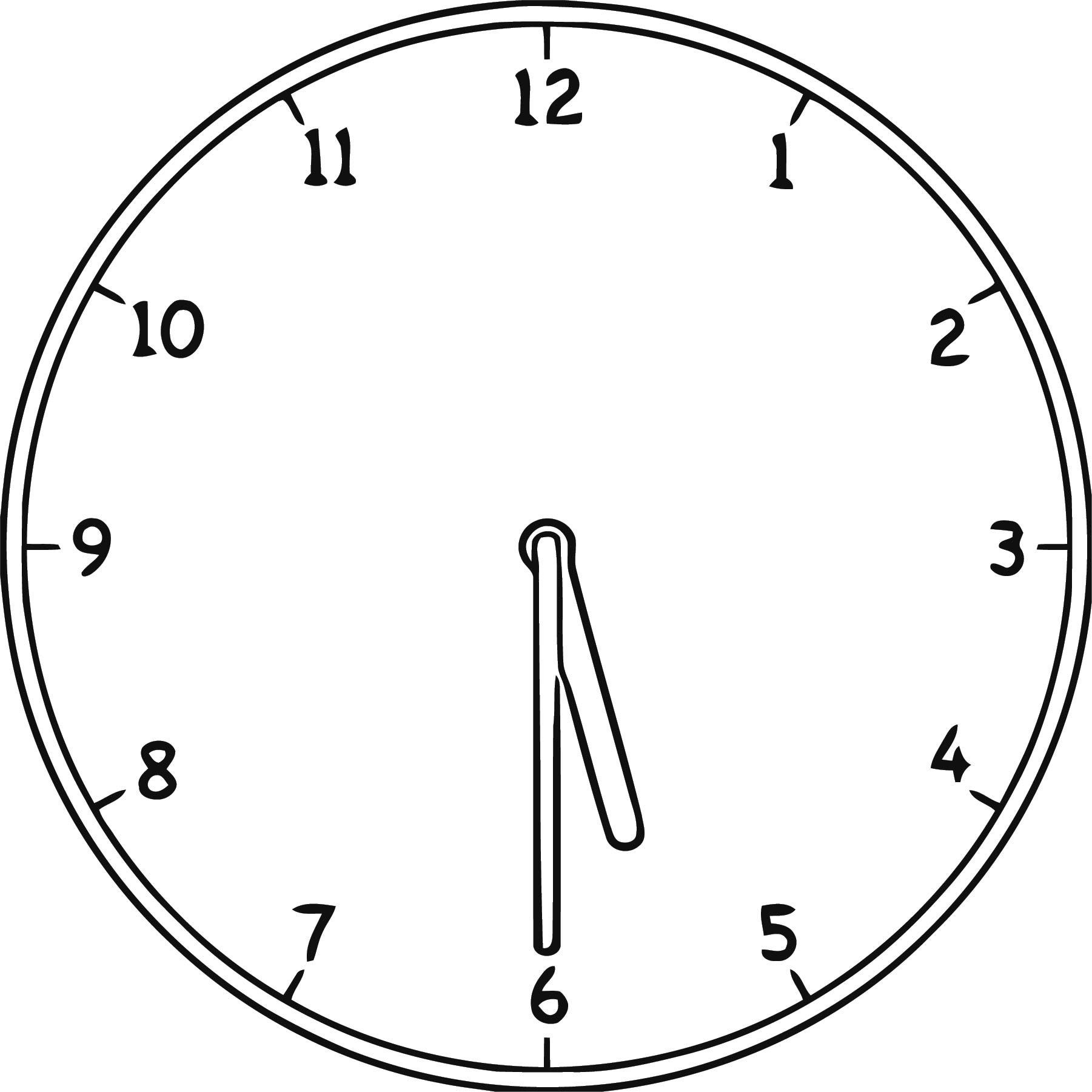 Clock Clip Art Clock Clip A Free Printable Rt Cartoonized Free Printable Coloring Page
