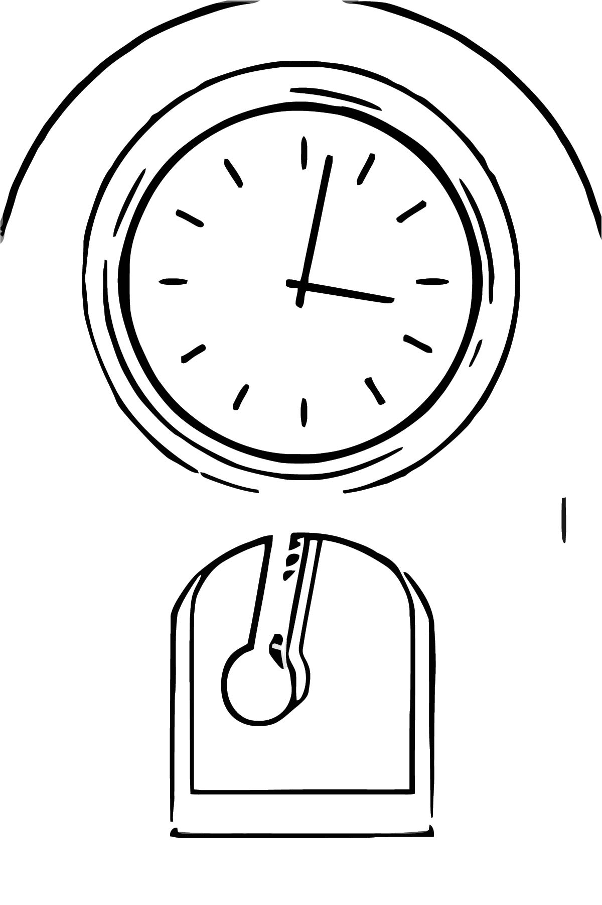 Clock Clipart Eten Free Printable Ar Cartoonized Free Printable Coloring Page