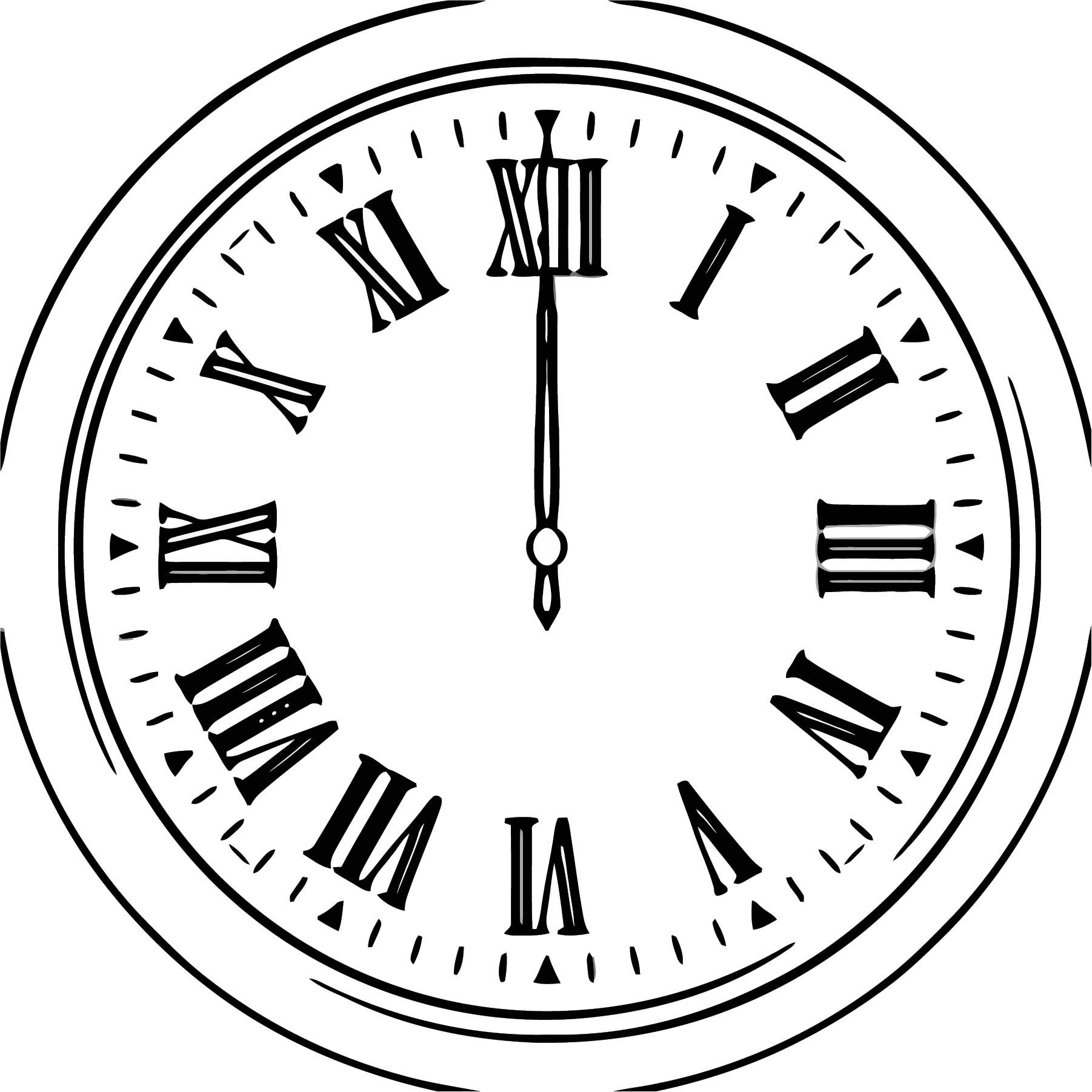 Clock Clipart Free Printable 4 Cartoonized Free Printable Coloring Page