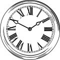 Clock Coloring Page WeColoringPage 006