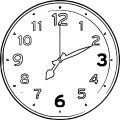 Clock Coloring Page WeColoringPage 007