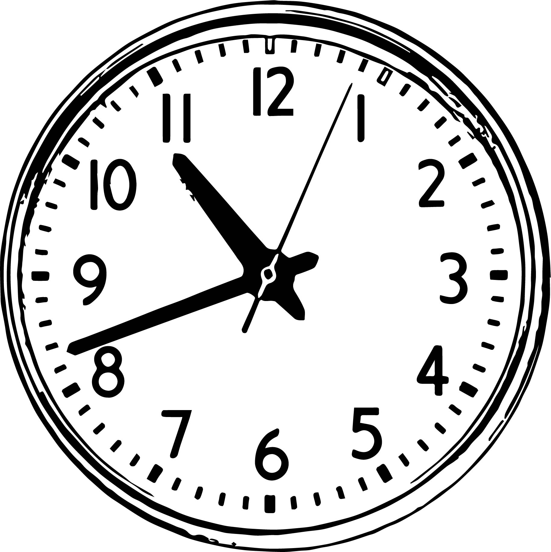 Clock Coloring Page WeColoringPage 008