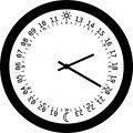Clock Coloring Page WeColoringPage 012