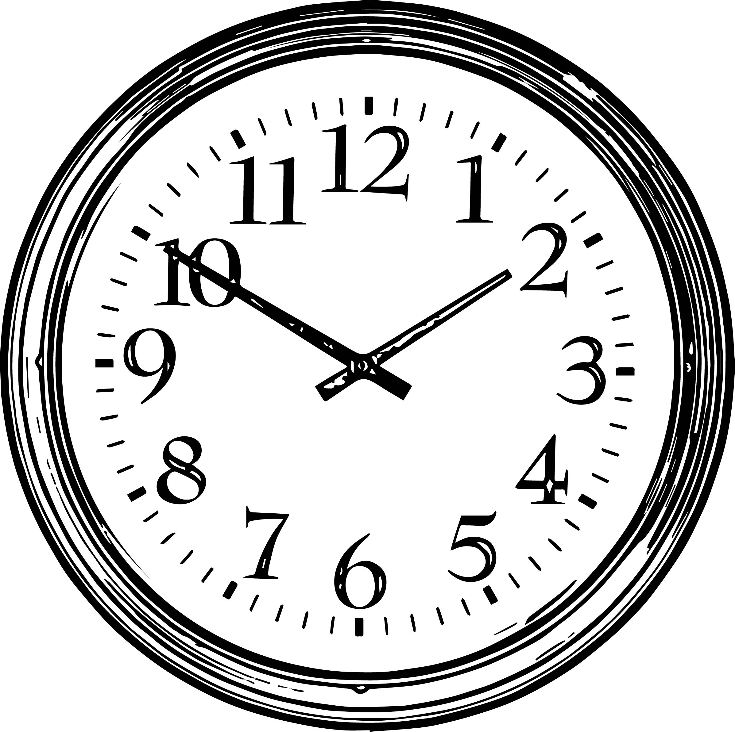 Clock Coloring Page WeColoringPage 013