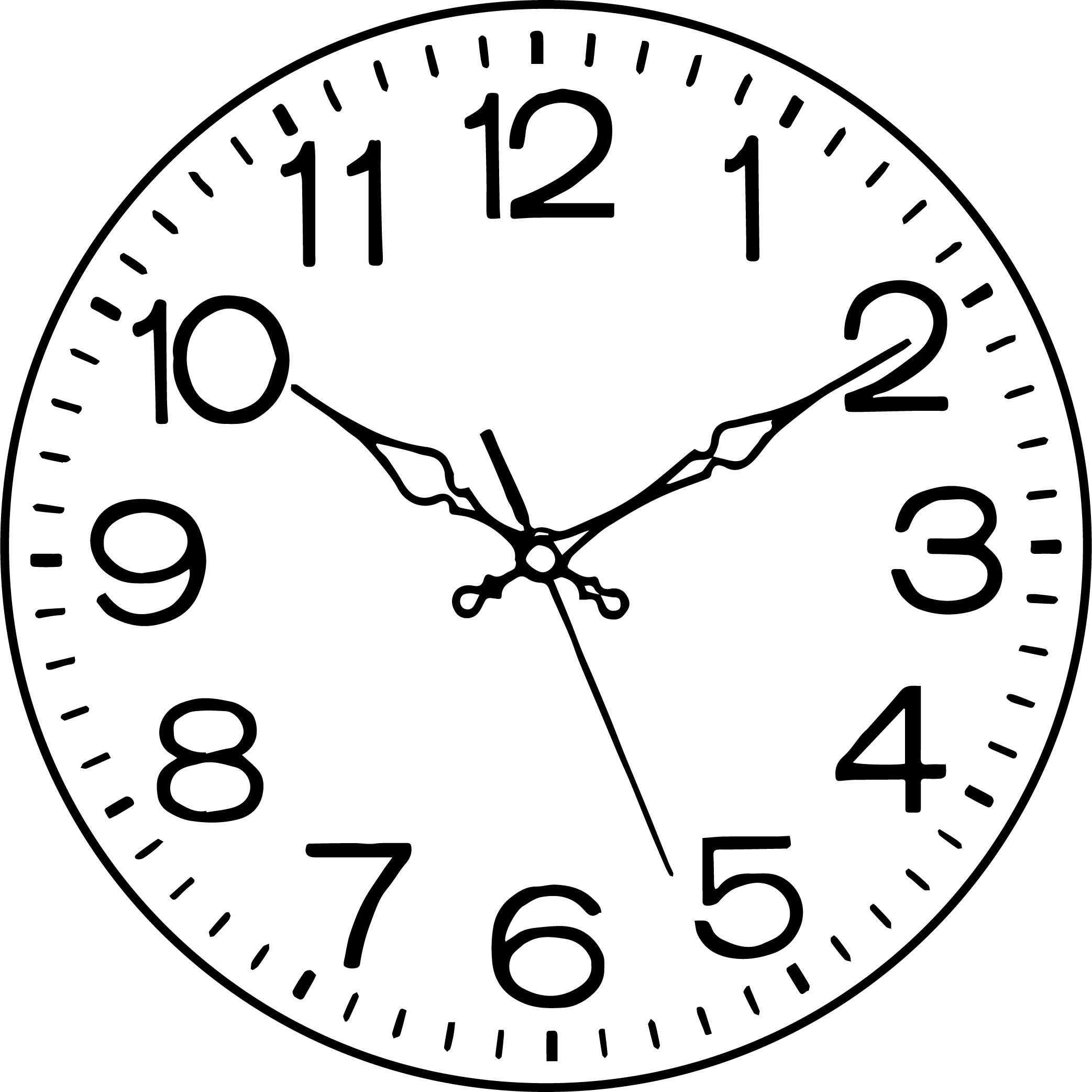 Clock Coloring Page WeColoringPage 019