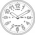 Clock Coloring Page WeColoringPage 020
