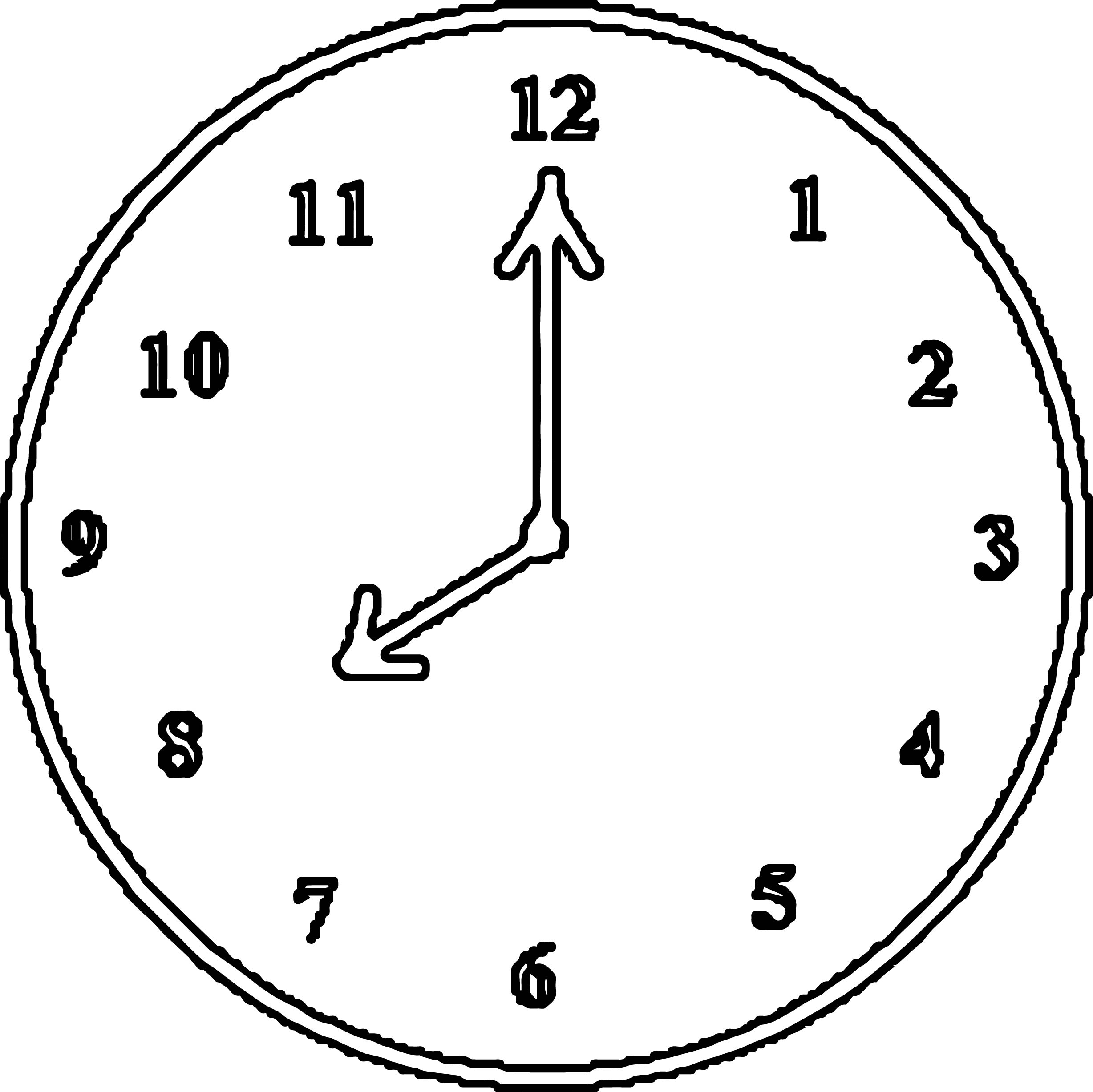 Clock Coloring Page WeColoringPage 021