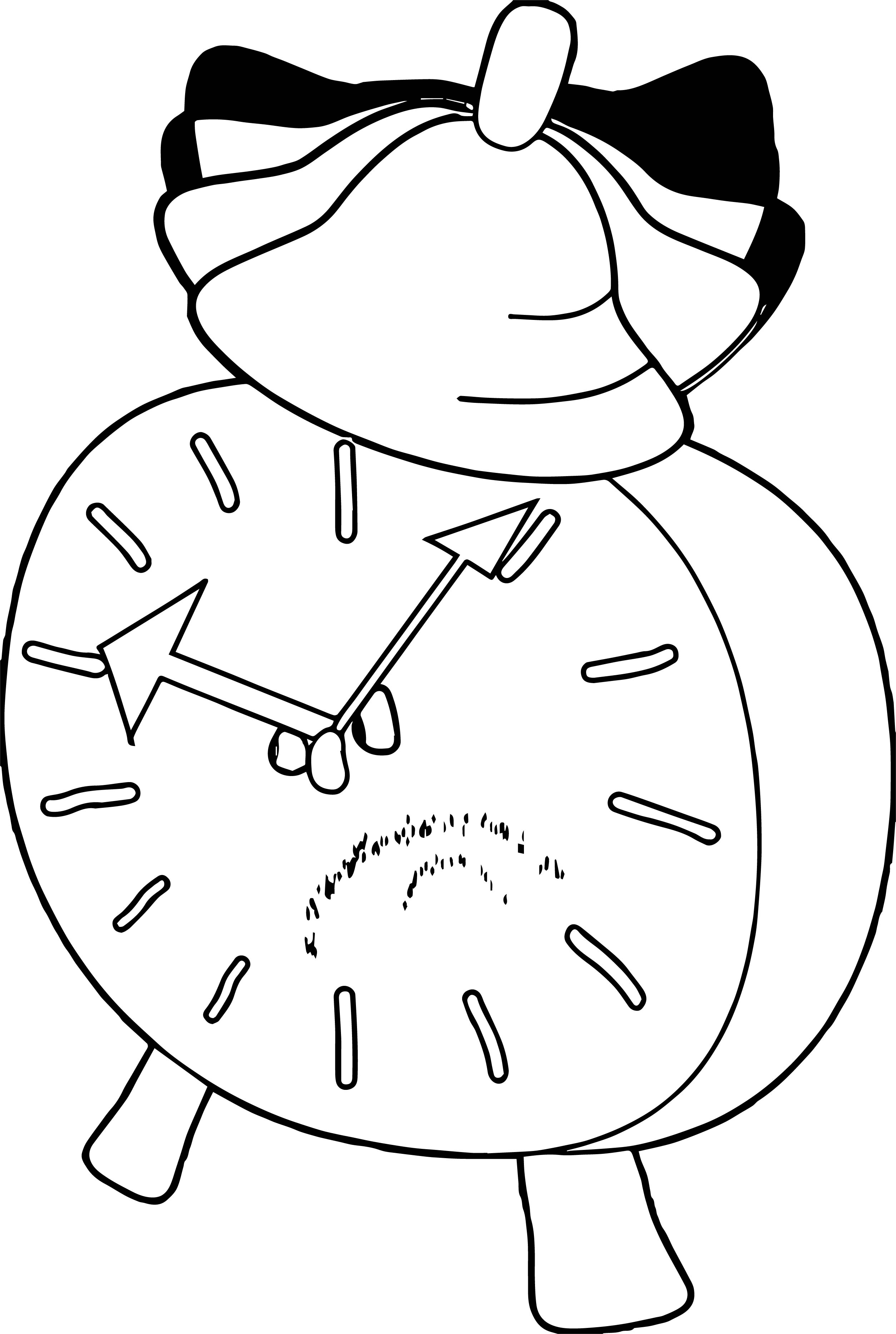 Clock Coloring Page WeColoringPage 023