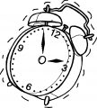 Clock Coloring Page WeColoringPage 024