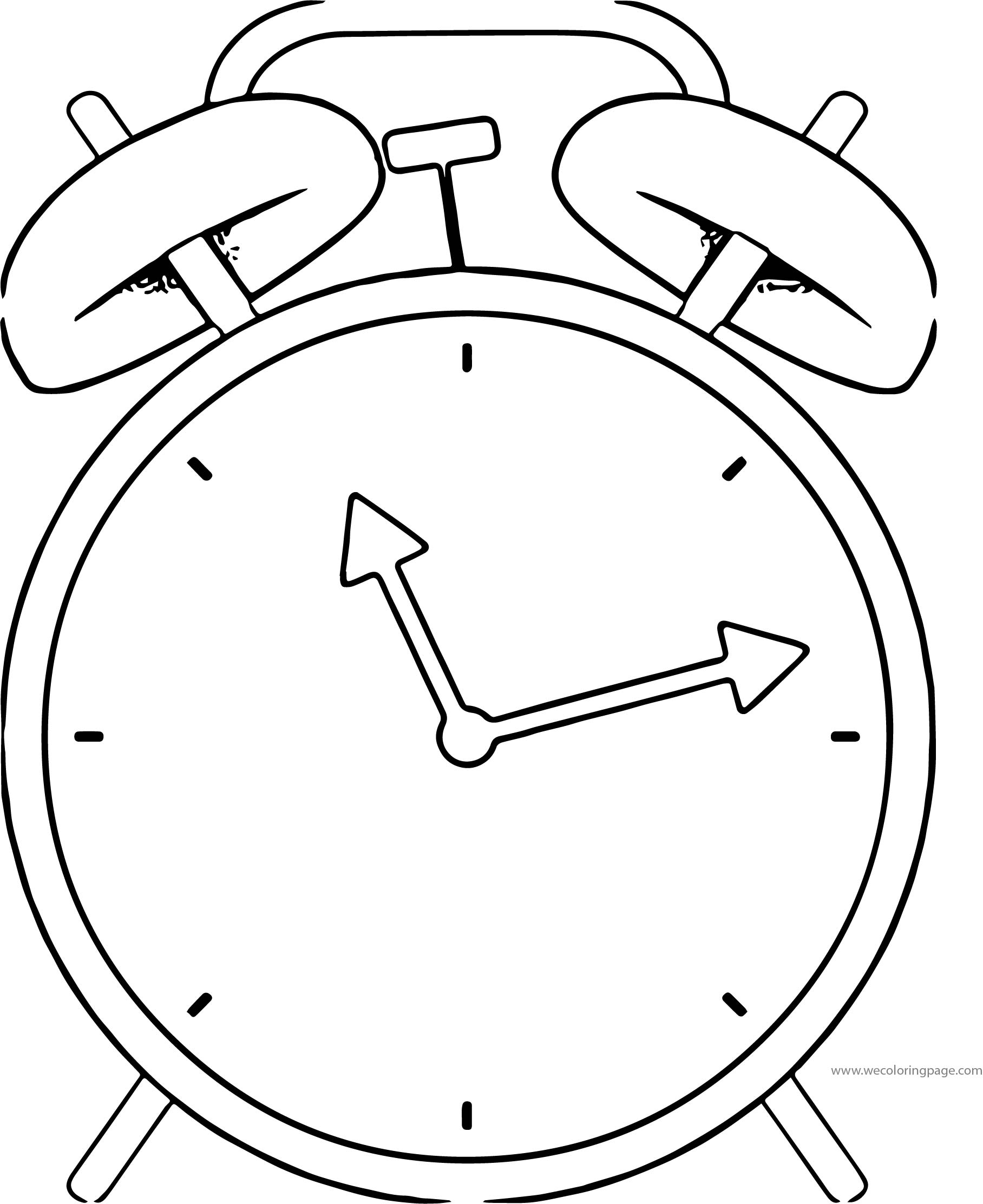 Clock Coloring Page WeColoringPage 026