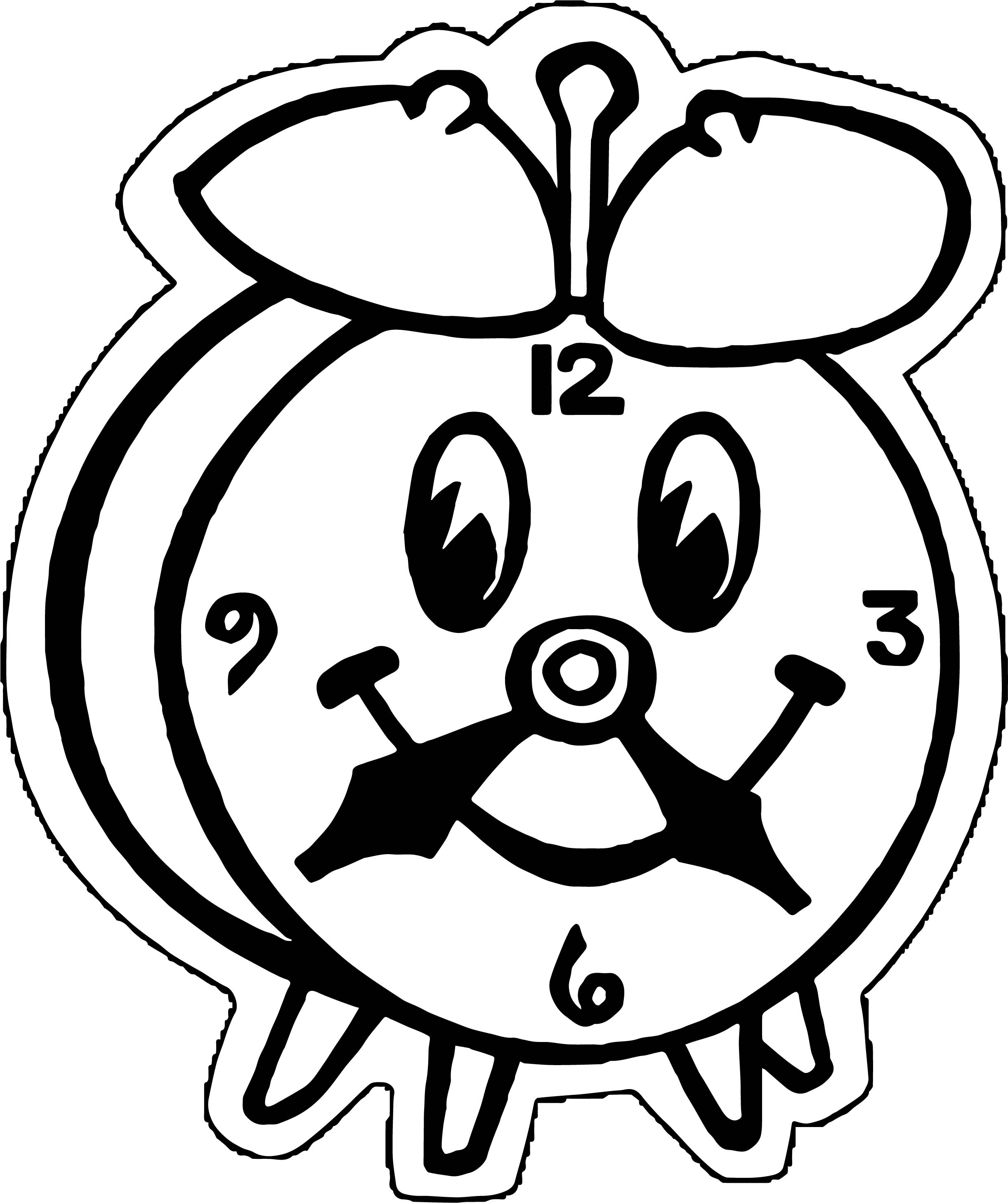 Clock Coloring Page WeColoringPage 080